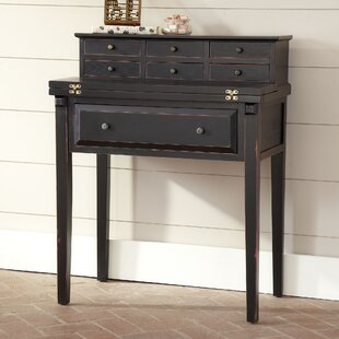Gallo Solid Wood Secretary Desk With Hutch by Charlton Home 2019 Sale