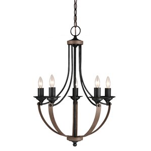 kenna 5light mini chandelier