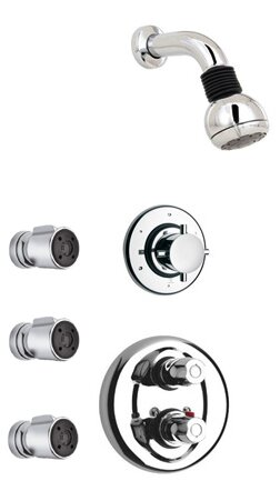 Water Harmony Adjustable Shower Head Complete Shower System by LaToscana
