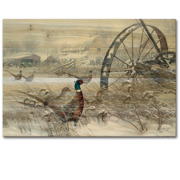 Prairie Blizzard by Michael Sieve Painting Print Plaque by WGI-GALLERY