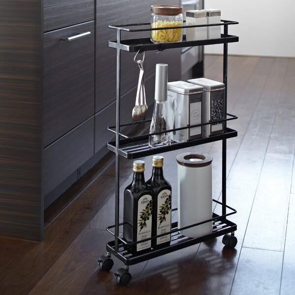 Espinal Rolling Kitchen Cart by Rebrilliant