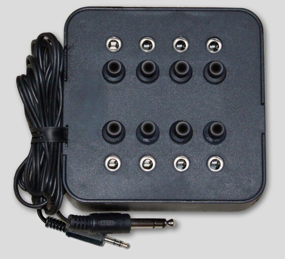 Eight Position Socket Mono Jack Box in Black by Avid