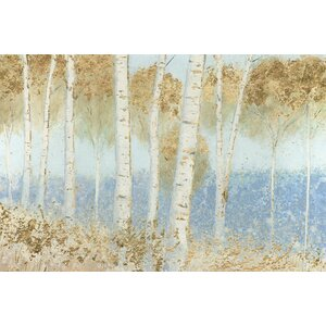 'Summer Birches' Painting Print on Canvas by East Urban Home