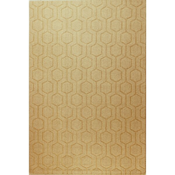 Ogden Hand-Woven Beige Area Rug by Langley Street