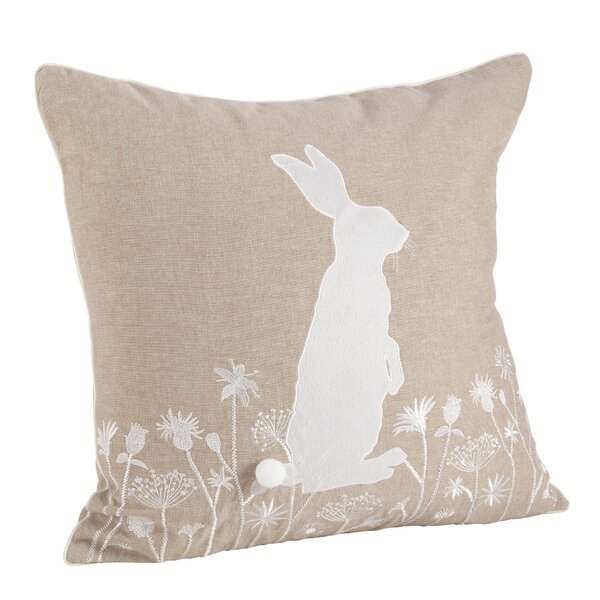 Wonderland Cotton Throw Pillow by Saro