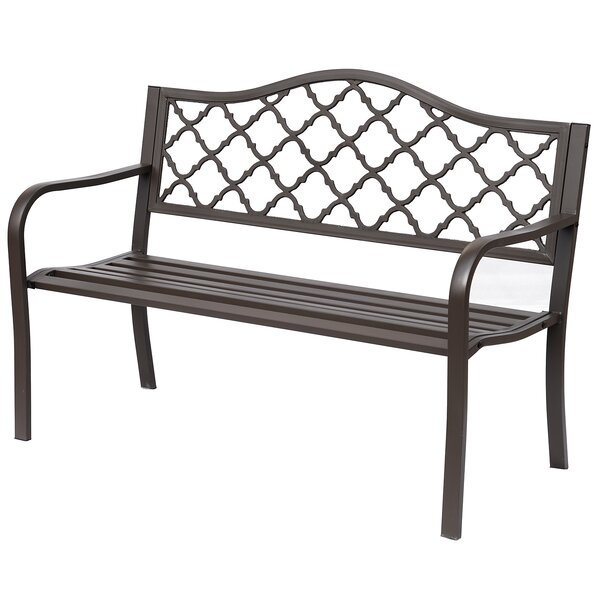 Everett Diamonds Cast Iron Garden Bench by Fleur De Lis Living