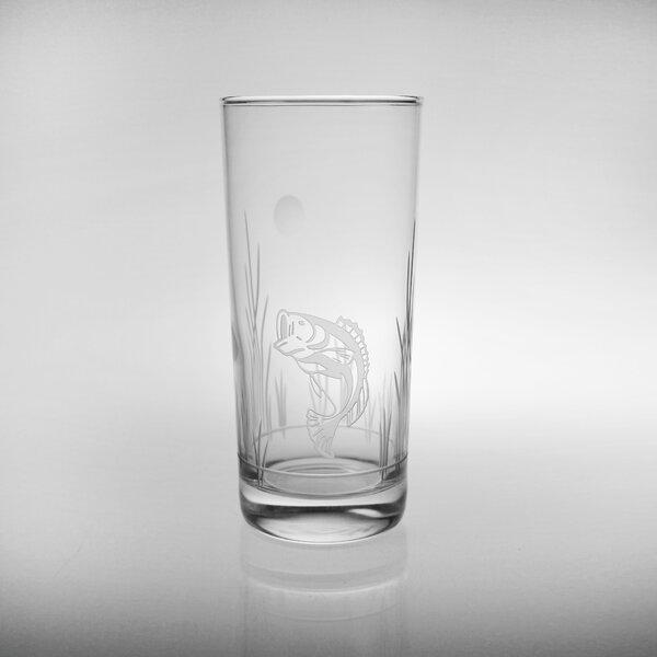 Lake Fish 15 oz. Highball Glass (Set of 4) by Rolf Glass