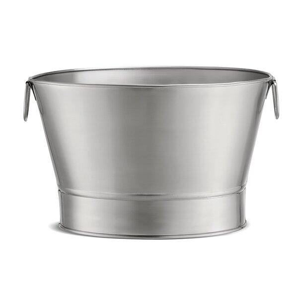 7 Gallon Brushed Stainless Steel Double Wall Beverage Tub by Tablecraft