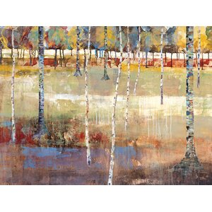 Birch Forest by Michael Longo Painting Print on Canvas by Portfolio Canvas Decor