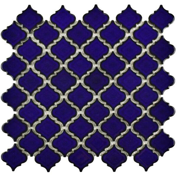 Pharsalia 12.38 x 12.5 Porcelain Mosaic Floor and Wall Tile in Blue Eye by EliteTile