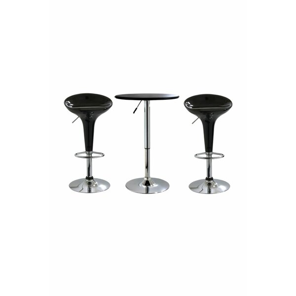 Gess 3 Piece Adjustable Pub Table Set by Orren Ellis