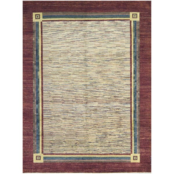 One-of-a-Kind Hand-Knotted Wool Wine Area Rug by Bokara Rug Co., Inc.