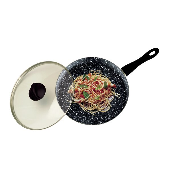 12 Non-Stick Aluminum Wok with Lid by MEPRA