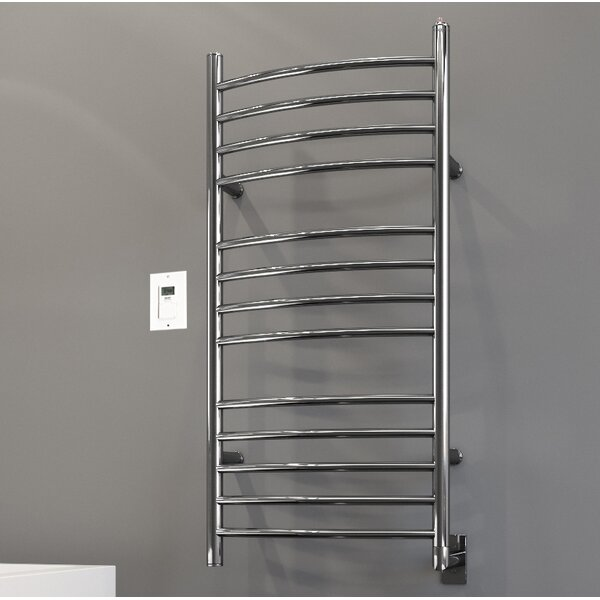 Svelte Rounded Wall Mount Electric Towel Warmer With Timer by Ancona