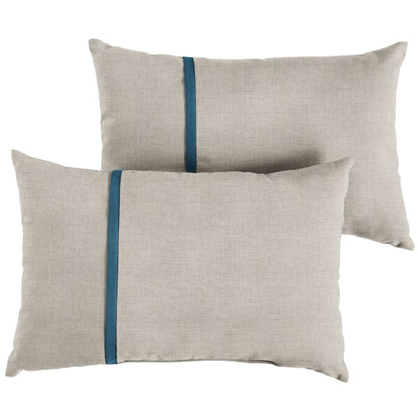Annabella Indoor/Outdoor Lumbar Pillow (Set of 2) by Longshore Tides