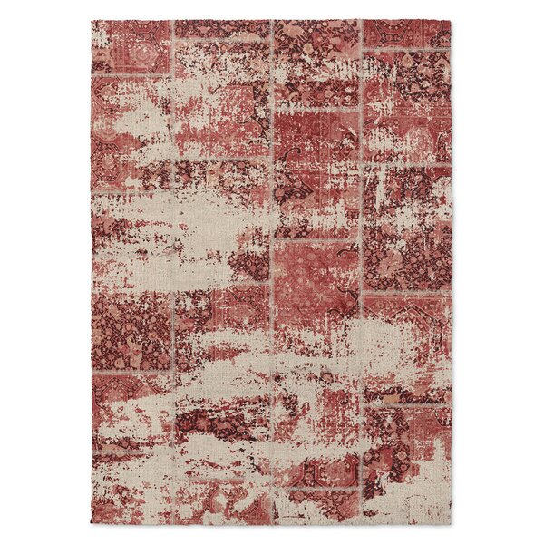 Tori Patchwork Red/Pink/Ivory Area Rug by Bungalow Rose