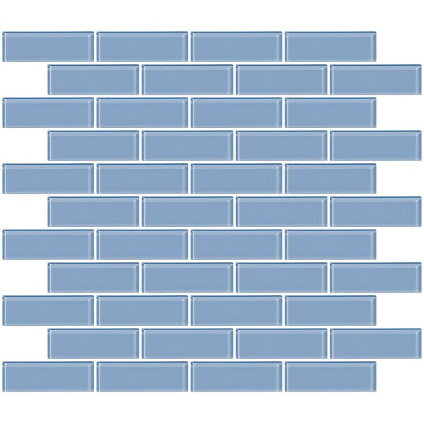 1 x 3 Glass Subway Tile in Pale Sky Blue by Susan Jablon