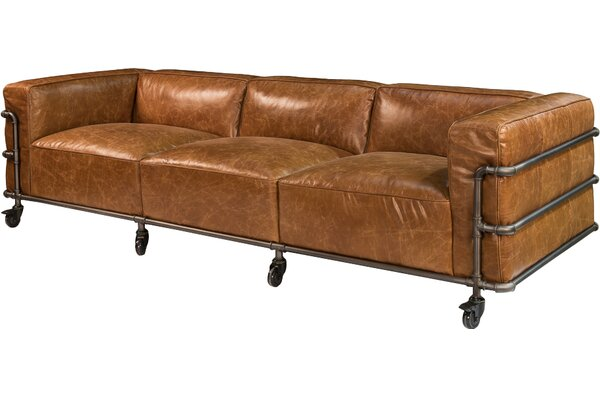 Highest Quality Antwerp Couch Leather Sofa by Sarreid Ltd by Sarreid Ltd