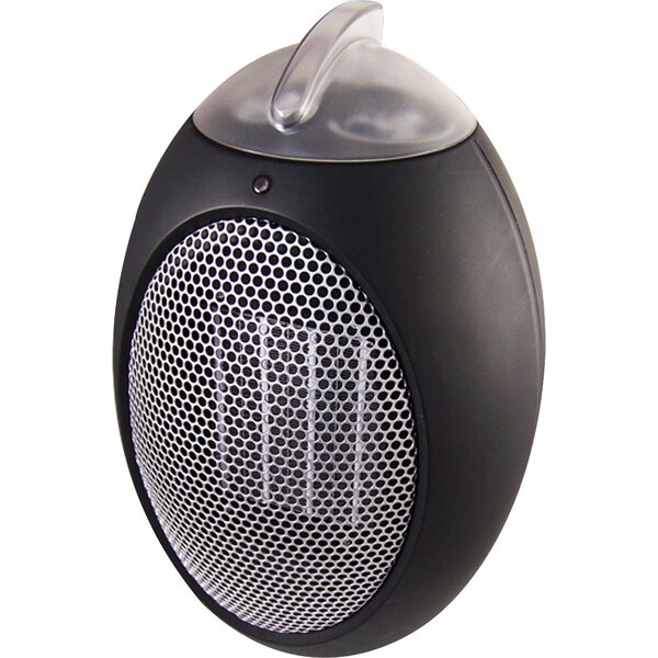 Personal Space Heater 750 Watt Portable Electric Fan Compact Heater with Adjustable Thermostat by Cozy Products