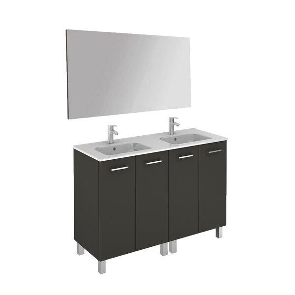 Logic 47 Double Bathroom Vanity Set with Mirror