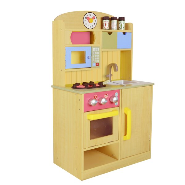 5 Piece Little Chef Wooden Play Kitchen Set with A