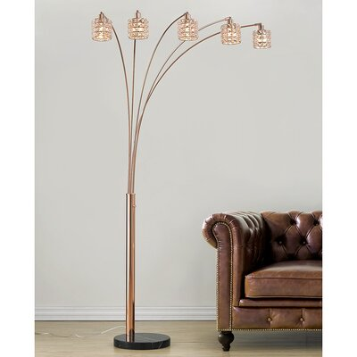Clear Amp Glass Shade Floor Lamps You Ll Love In 2020 Wayfair