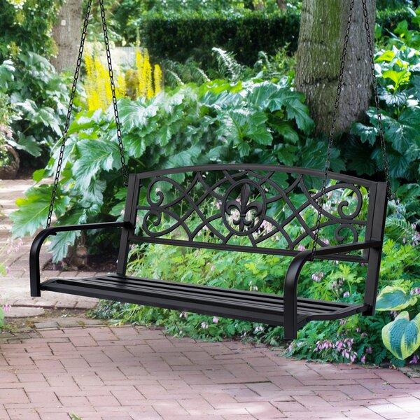 Ines Steel Porch Swing by Fleur De Lis Living