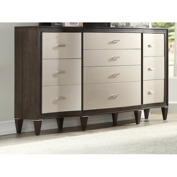 Fuselier 10 Drawer Double Dresser by House of Hampton