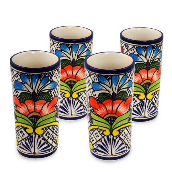 10 oz. Ceramic Every Day Glass (Set of 4) by Novica
