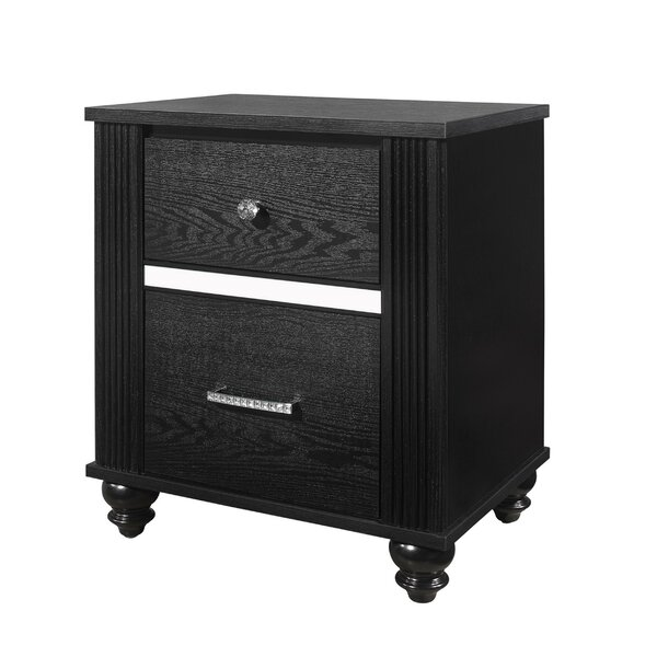 Rhoda 2  - Drawer Nightstand By Alcott Hill