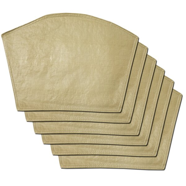 Makenzie Restaurant Quality Solid Vinyl Wedge Placemat (Set of 6) by Gracie Oaks