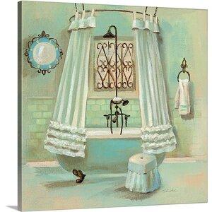 'Glass Tile Bath II' by Silvia Vassileva Painting Print on Canvas by Canvas On Demand