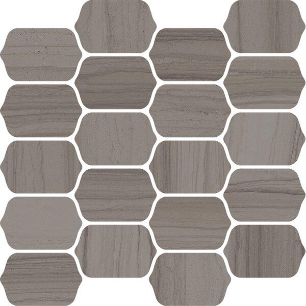 Burano 12 x 13 Ceramic Mosaic Tile in Grigio Belfiore by Interceramic