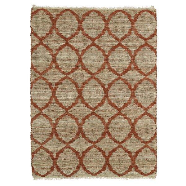 Dolder Grey & Rust Area Rug by Ebern Designs
