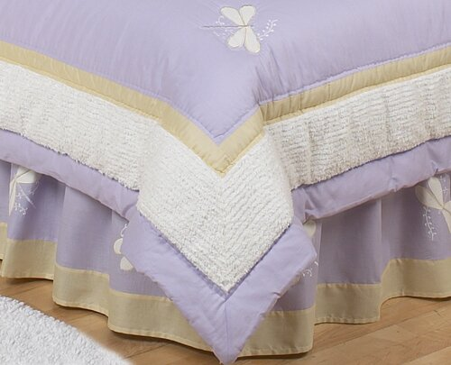 Dragonfly Dreams Toddler Bed Skirt by Sweet Jojo Designs