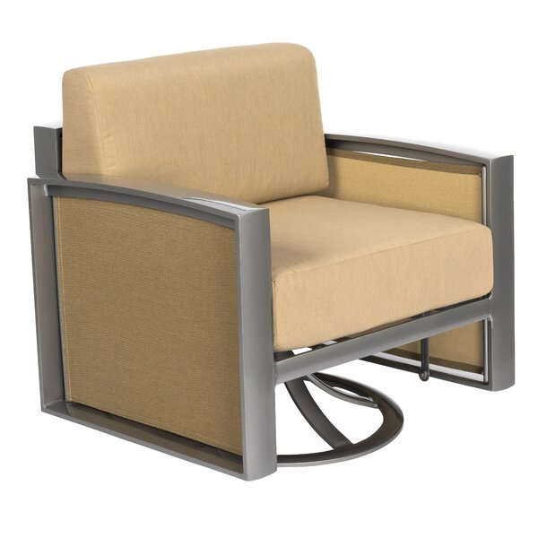 Metropolis Gliding Swivel Patio Chair with Cushions by Woodard