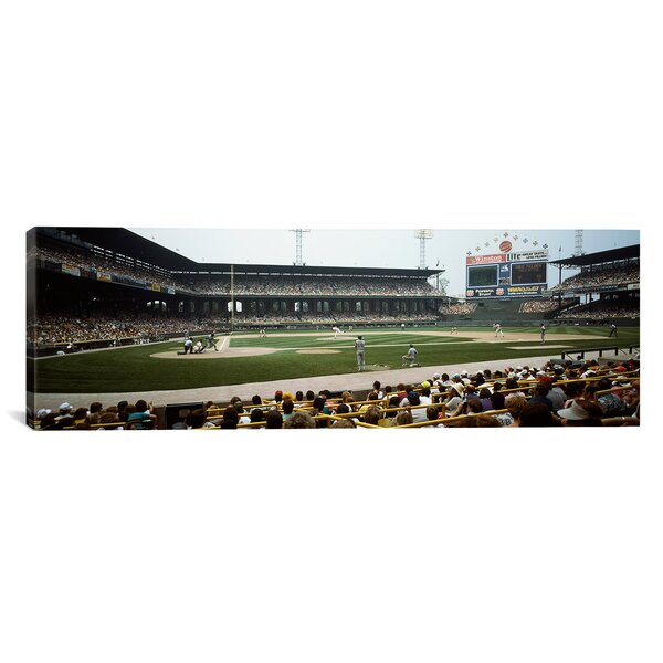 Panoramic Spectators Watching a Baseball Match in a Stadium, U.S. Cellular Field, Chicago, Cook County, Illinois Photographic Print on Canvas by iCanvas
