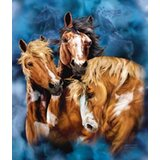 9 Horses Mink Blanket by East Urban Home