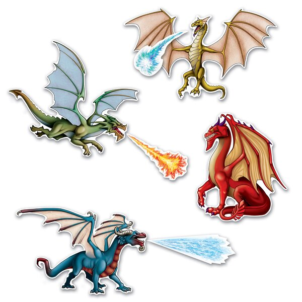 7 Piece Dragon Standup Set (Set of 3) by The Beistle Company