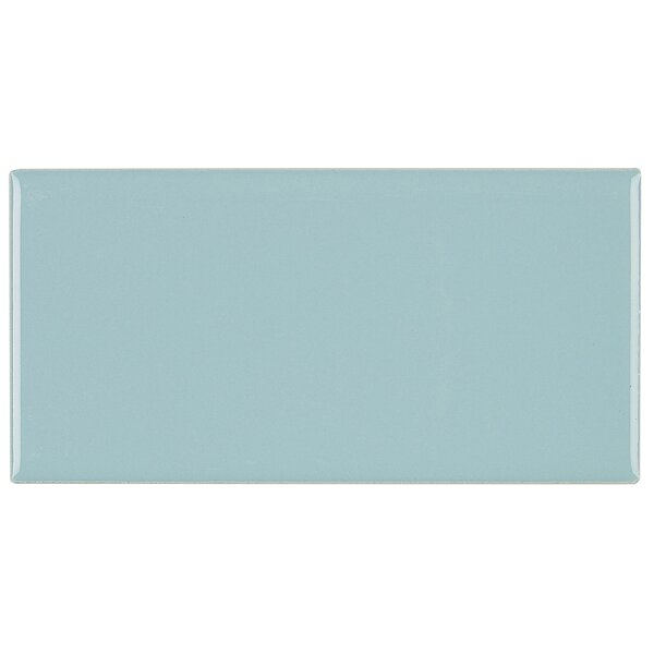 Guilford 3 x 6 Ceramic Subway Tile in Aqua Glow by Itona Tile
