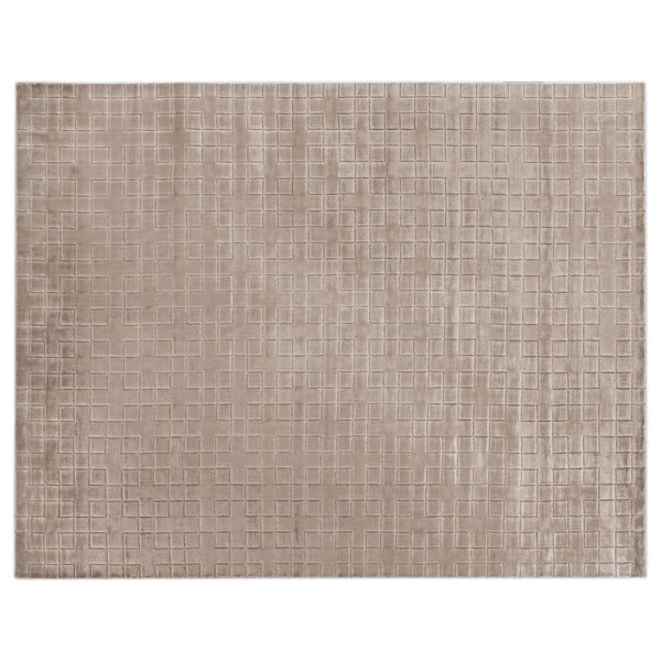 Kingsley Hand-Woven Silk Light Beige Area Rug by Exquisite Rugs