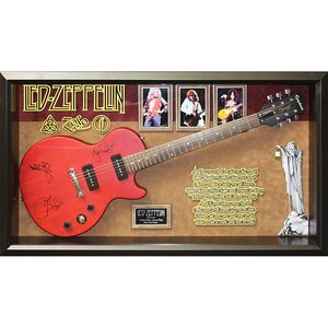 Led Zeppelin 'Stairway To Heaven' Custom Framed Autographed Guitar by Latitude Run