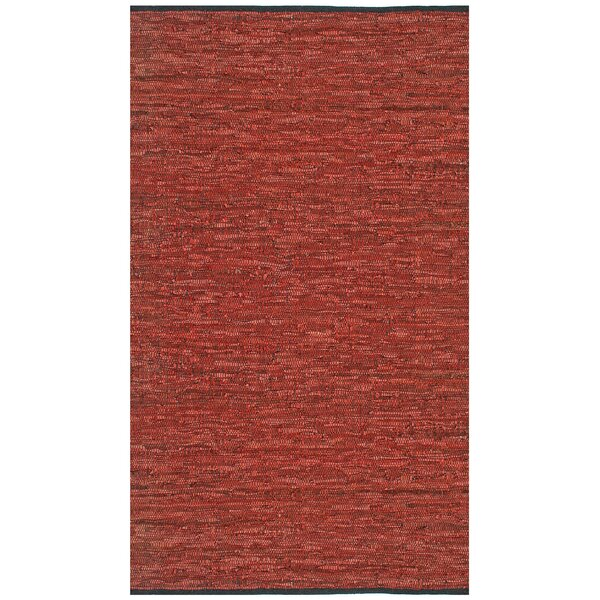 Sandford Leather Chindi Copper Area Rug by Latitude Run