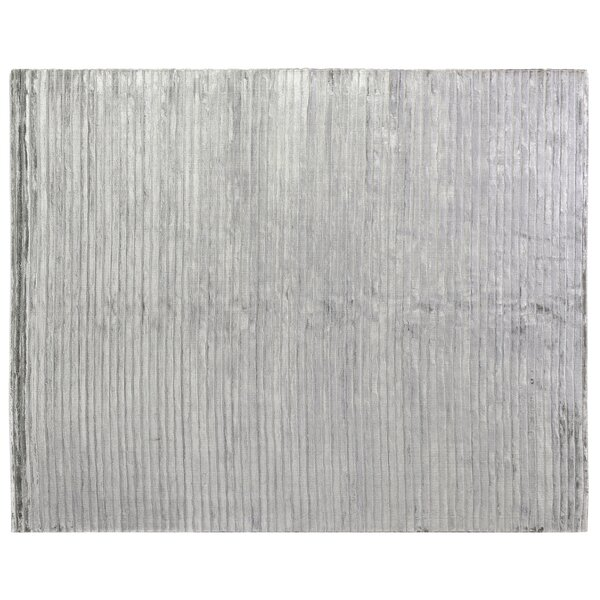 High Low Hand-Woven Aqua Area Rug by Exquisite Rugs