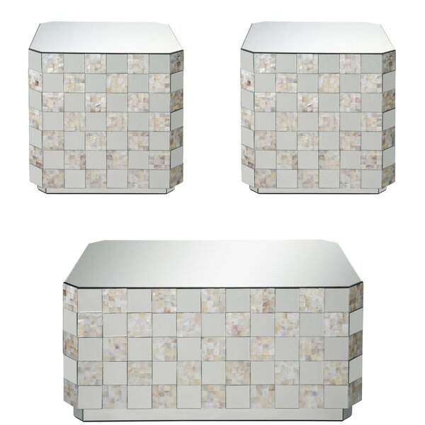 Bustamante 3 Piece Coffee Table Set By Everly Quinn