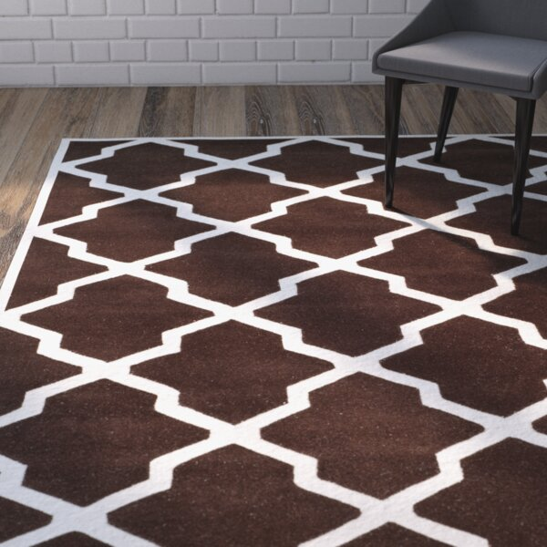 Wilkin Dark Brown / Ivory Rug by Wrought Studio