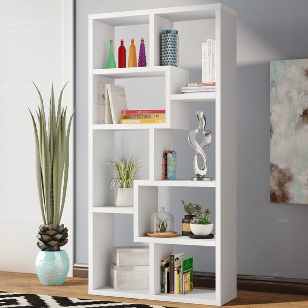 Skaggs Geometric Bookcase By Wrought Studio