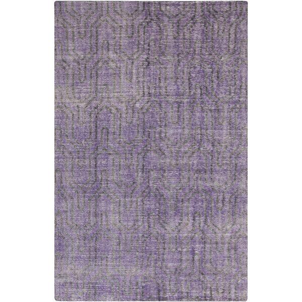 Casteel Geometric Violet Area Rug by Wrought Studio