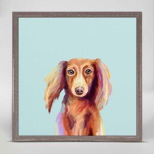 Dachshund Dog Framed Print on Canvas by Ebern Designs