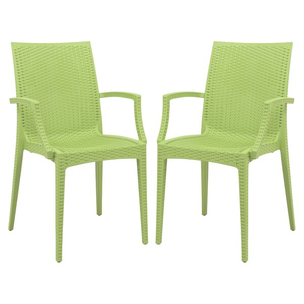 Quade Stacking Patio Dining Chair (Set of 2) by Wi